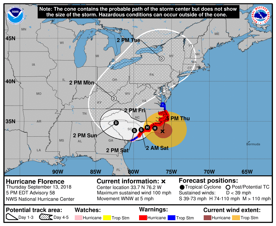 MAJOR HURRICANE FLORENCE part 2: Will have historic impacts to the Carolina coastline and areas inland - Page 4 15224710