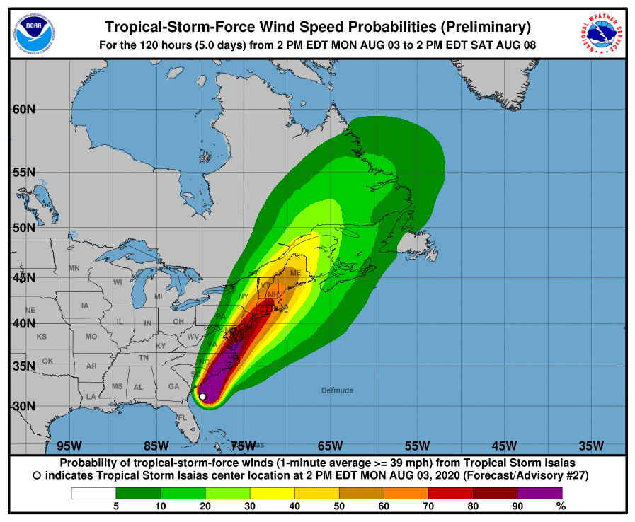 Tropical Storm Isaias 15241610