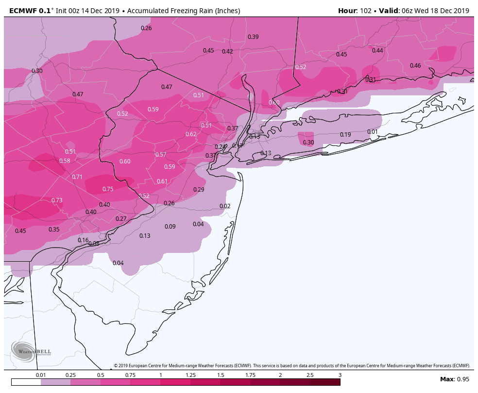 Dec 16-17 Snow/Ice potential storm Ecmwf-19