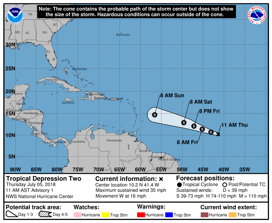 2018 Hurricane Season  Nhc_td10