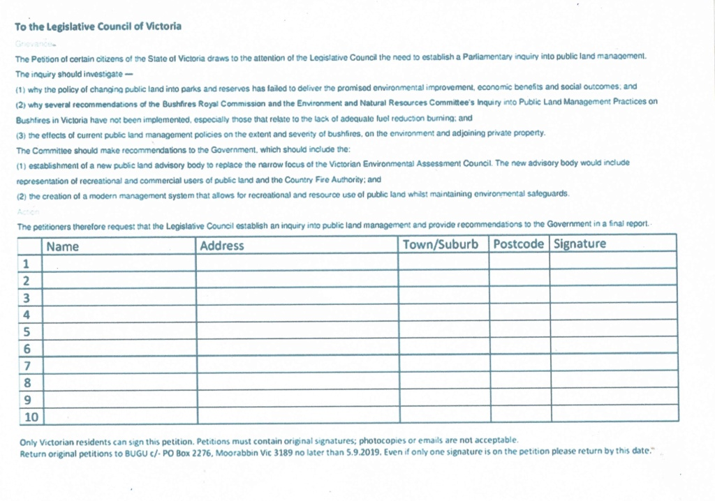 Petition to the Legislative Council of Victoria Ccf02010