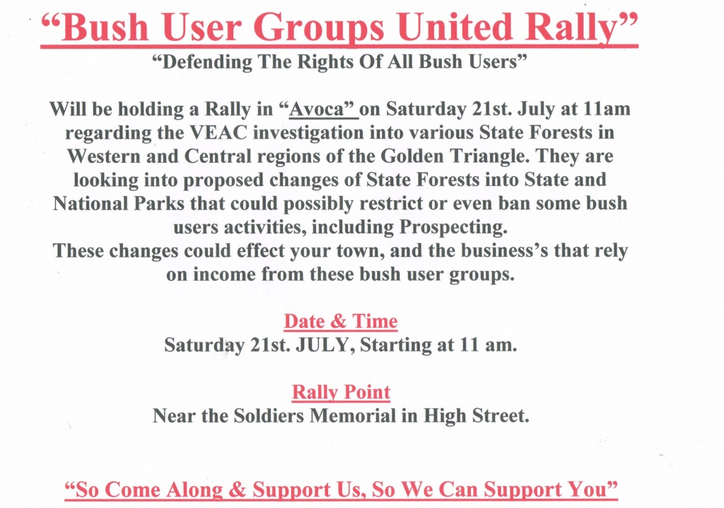 * BUSH USER GROUPS UNITED * Come on one and all and support this Facebook Group of Bush Users concerned about pending changes ** - Page 2 Ccf10011