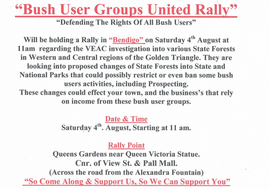 * BUSH USER GROUPS UNITED * Come on one and all and support this Facebook Group of Bush Users concerned about pending changes ** - Page 2 Ccf23010