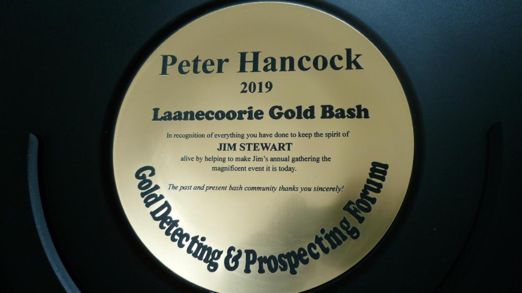 Award to Peter Hancock (Mariner 3800) Laanecoorie Gold Bash 2019 P1040211