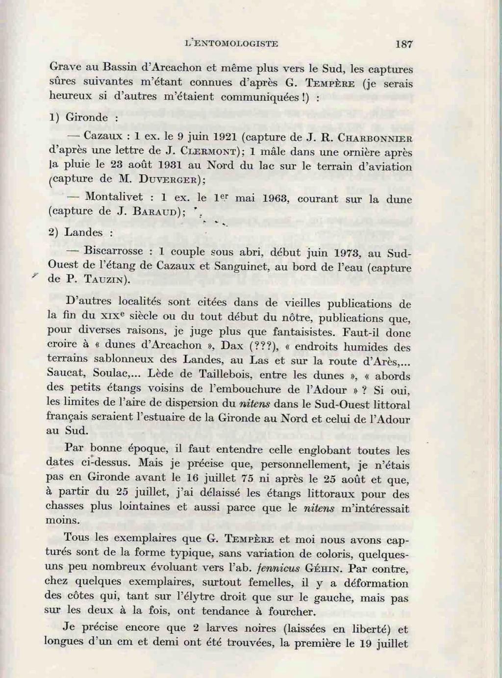 [Carabus (Hemicarabus) nitens nitens], Linné 1758 - Page 2 Clavie15