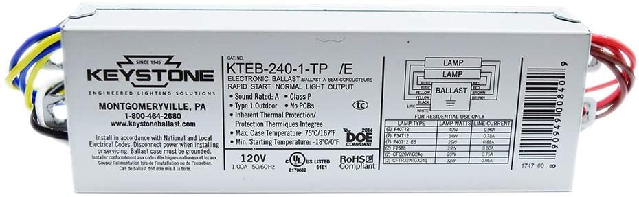 Preheat ballast for two (2) 40 watt T12 lamps 51g5k910
