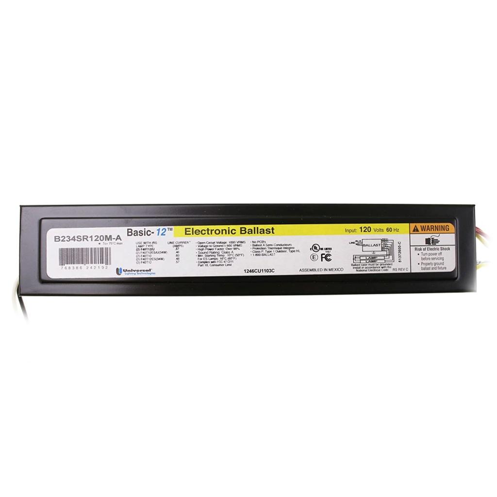 Preheat ballast for two (2) 40 watt T12 lamps 71rkxi10