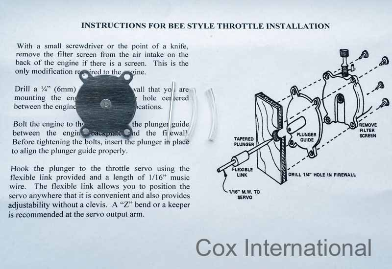 RC Carburetor for Cox Pee Wee .020 / .049 / Tee Dee .010 - .020 - .049/.050/.051 Babe2011