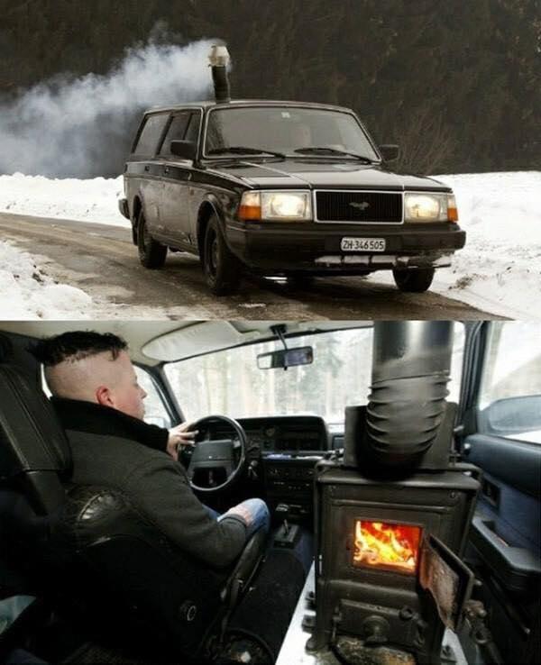 Pour les froides journées d'hiver....un poele a bois dans votre char !!! Volvo_10