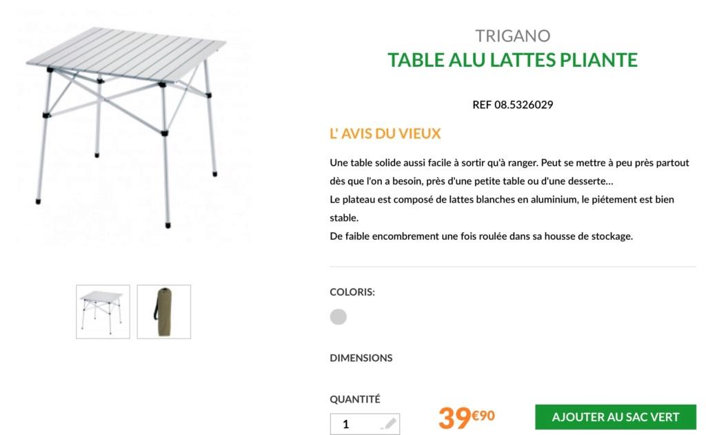 Petite table de camping pour fourgon Captur10