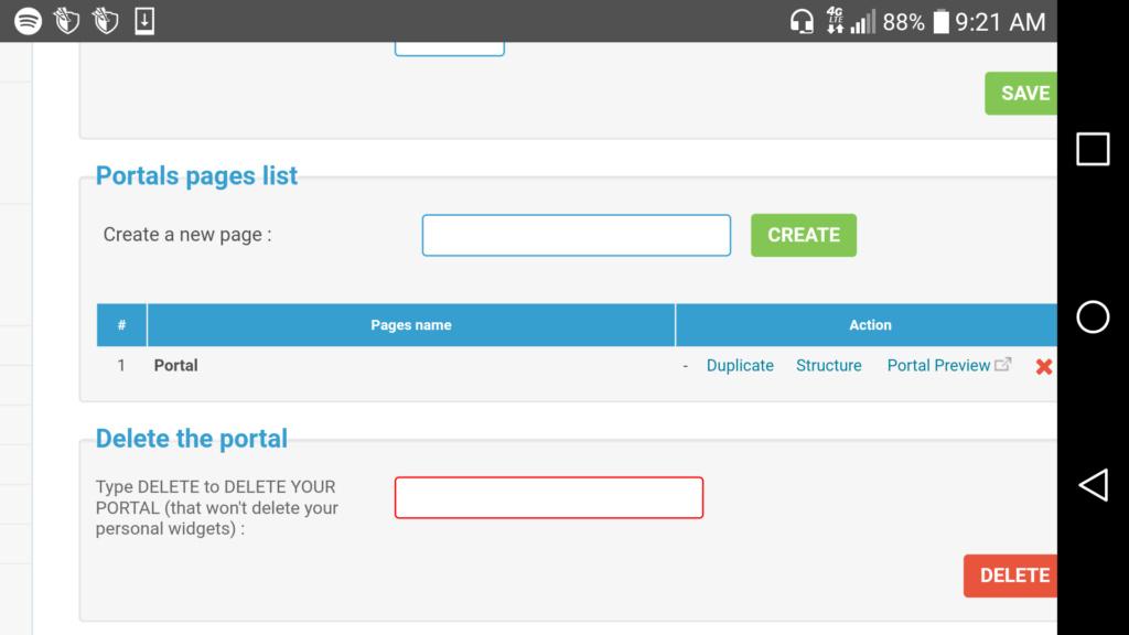 Portal Page Coding Screen50