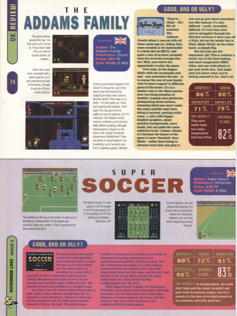 October 1992 - Enter the SNES Addams10