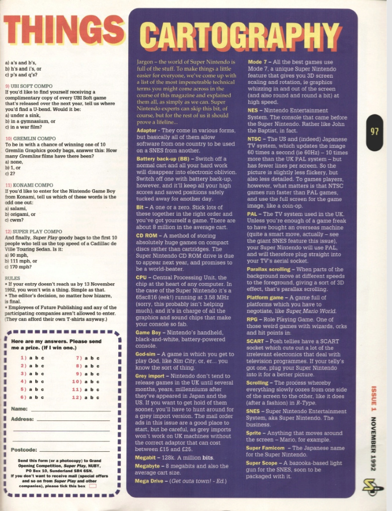 October 1992 - Enter the SNES Cartog10