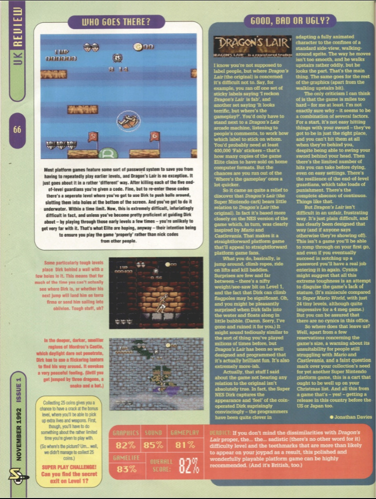 October 1992 - Enter the SNES Dragon12
