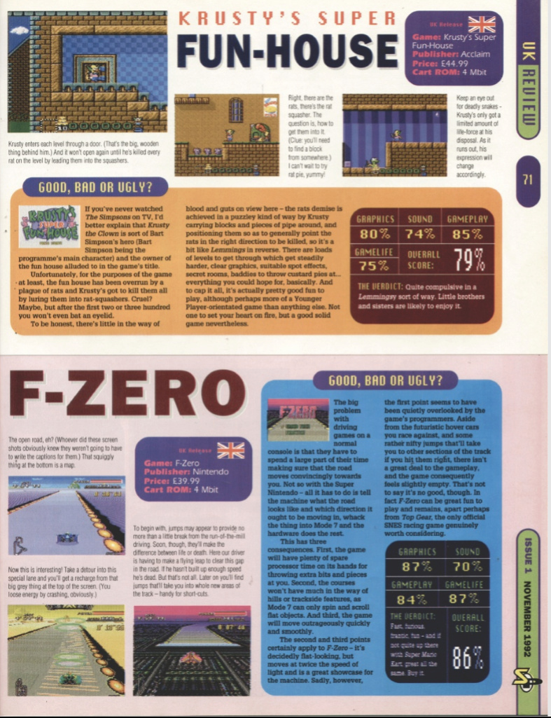 October 1992 - Enter the SNES Fzero10