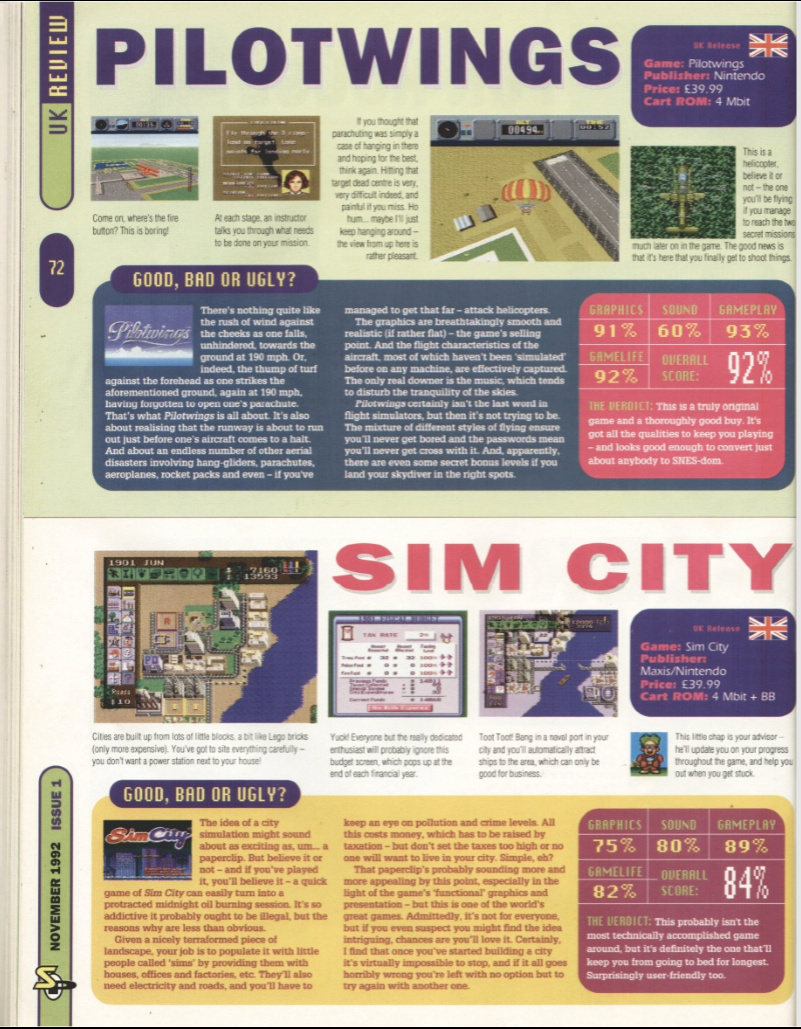 October 1992 - Enter the SNES Pilotw10