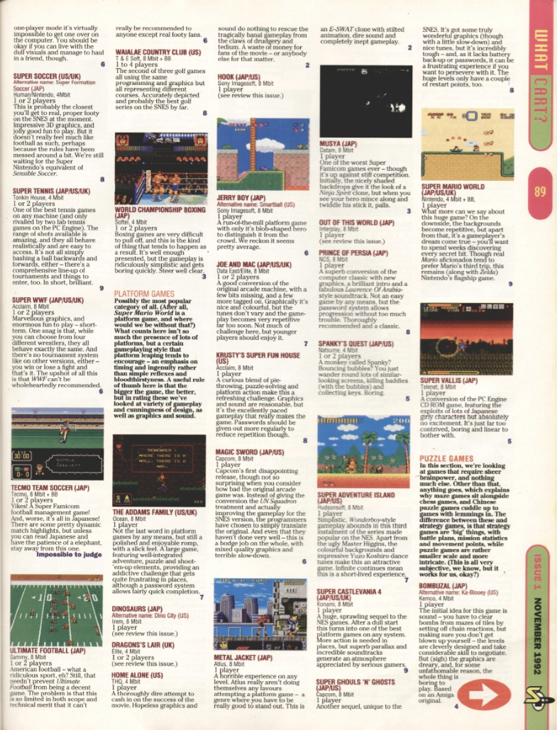 October 1992 - Enter the SNES Superm10