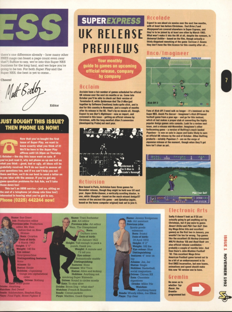 October 1992 - Enter the SNES Superp12
