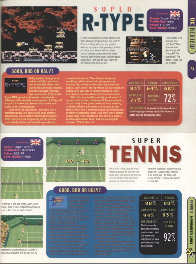 October 1992 - Enter the SNES Superr10