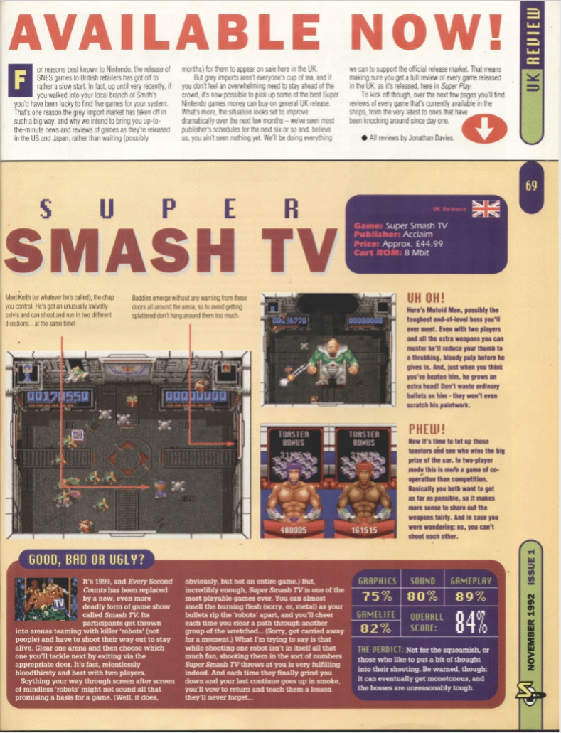 October 1992 - Enter the SNES Supers10