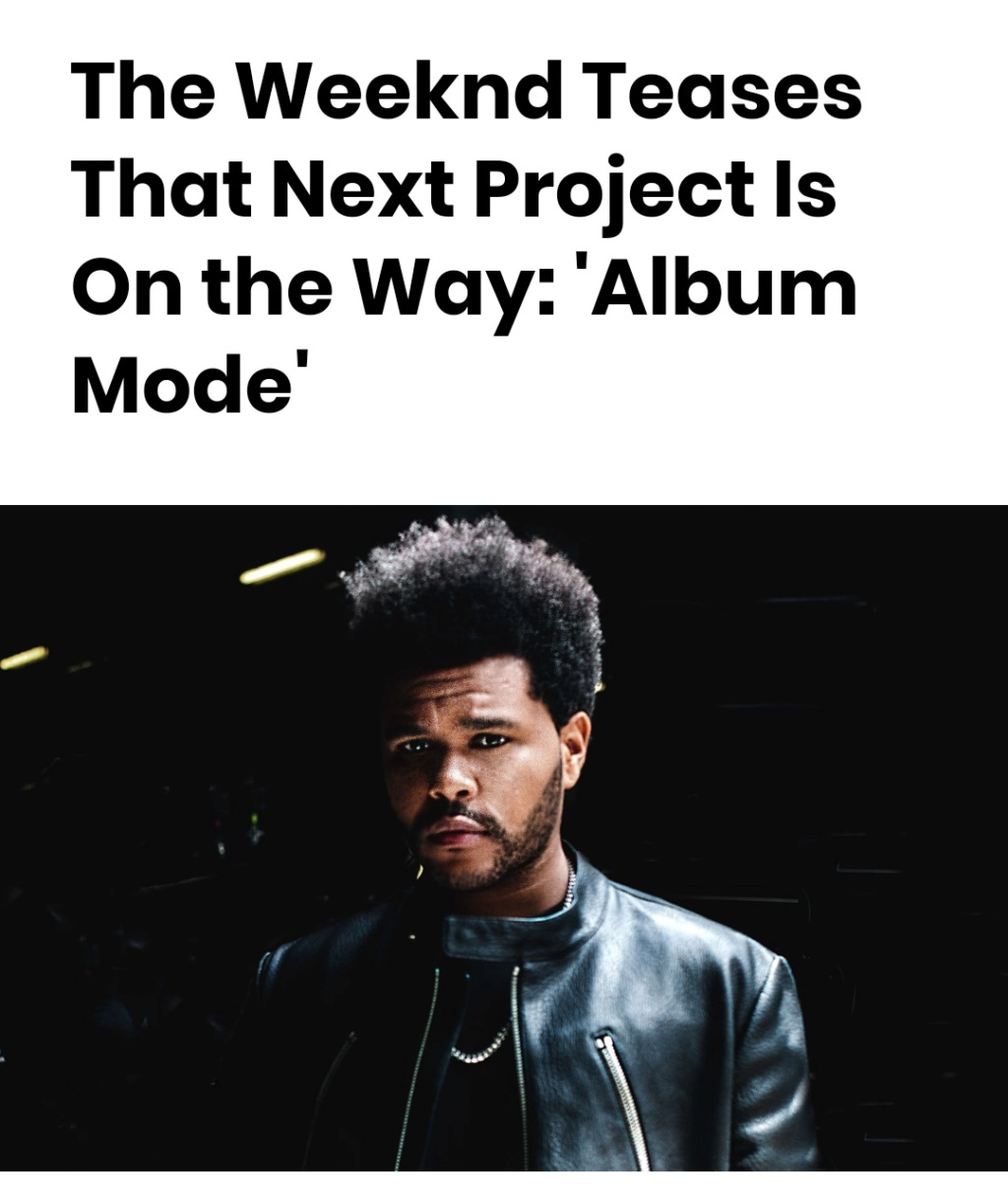 "The Weeknd >> EP ""My Dear Melancholy"" Scree101"