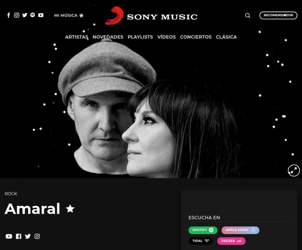"""Amaral >> álbum """"Salto Al Color"""" Screen36"""