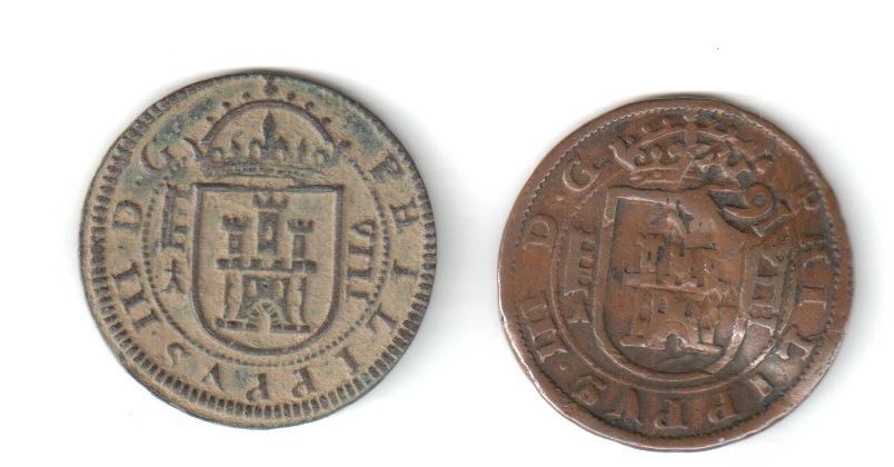8 maravedís de 1617 con marca de ensayador 161710
