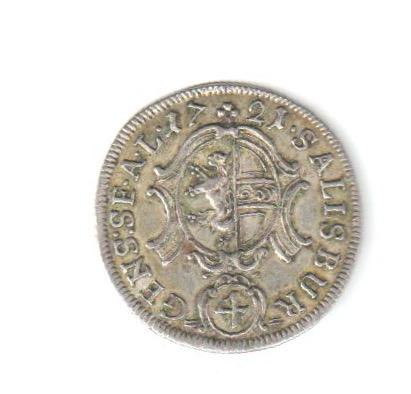 4 kreuzer austriacos de Salzburgo, 1721. Austre10