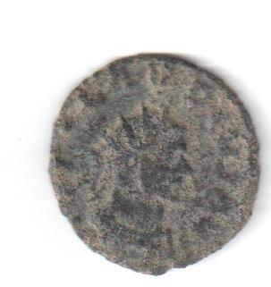 Antoniniano de Claudio II. LAETITIA AVG. Laetitia estante a izq. Siscia. Claud110