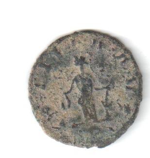 Antoniniano de Claudio II. LAETITIA AVG. Laetitia estante a izq. Siscia. Claud111