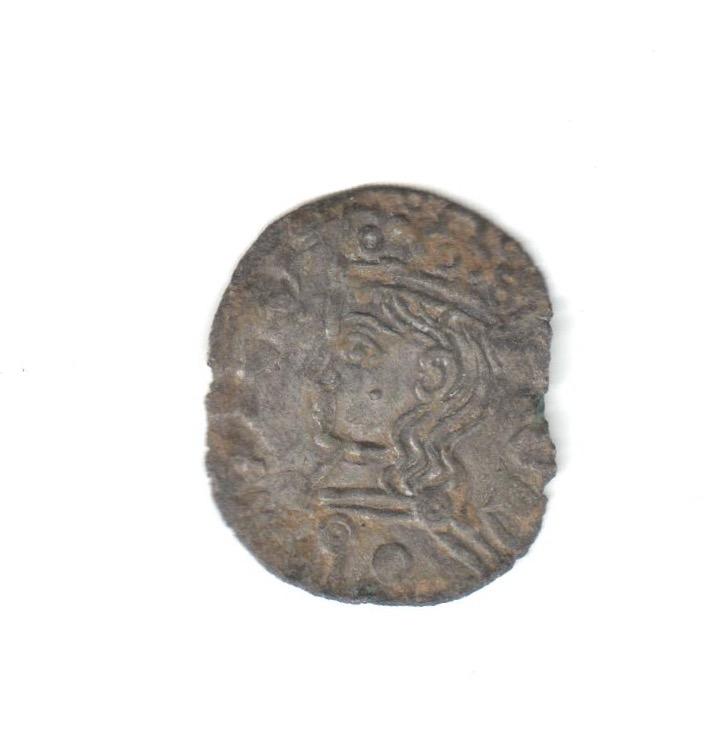 Dinero coronado o cornado de Alfonso XI. Toledo Estrel10