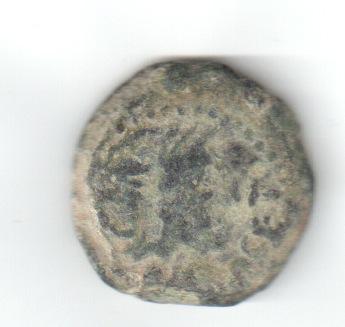 Cuadrante de Osset, siglo I a.C. L. LVC P. (VET). Cornucopia. Longos10
