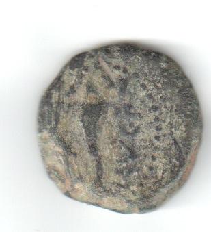 Cuadrante de Osset, siglo I a.C. L. LVC P. (VET). Cornucopia. Longos11