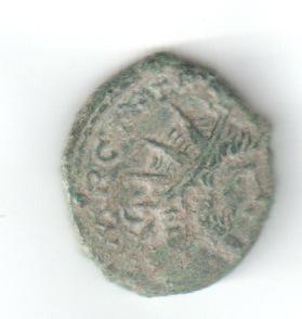 Antoniniano imitativo de Tétrico I. HILARITAS AVGG Radian10