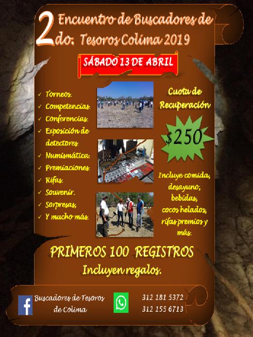 2DO ENCUENTRO DE BUSCADORES DE TESOROS COLIMA 2019 Promoc10