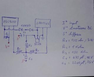 Micro circuito con 2SC5200 - 2SA1943 20191113