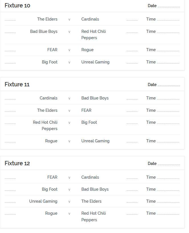 FRH Fixtures Season 23 App410
