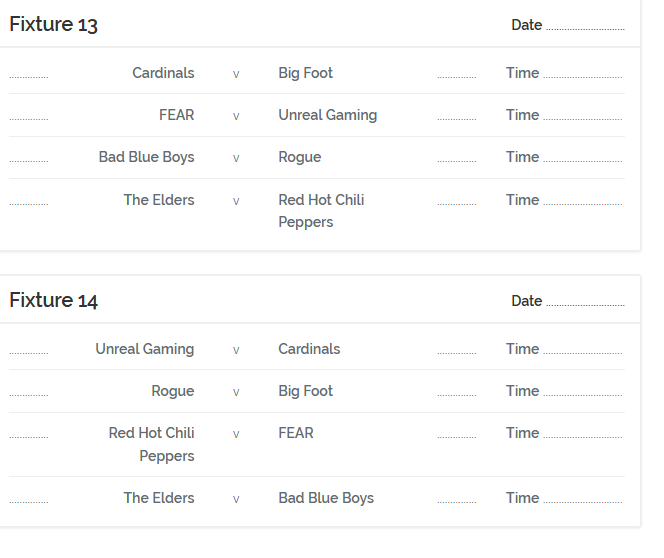 FRH Fixtures Season 23 App510