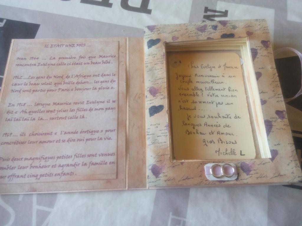 Carte livre et mini album assorti noces d'or Carte_29