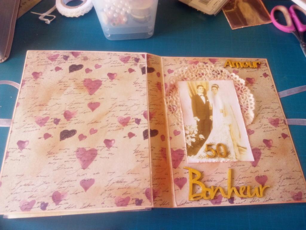 Carte livre et mini album assorti noces d'or Carte_30