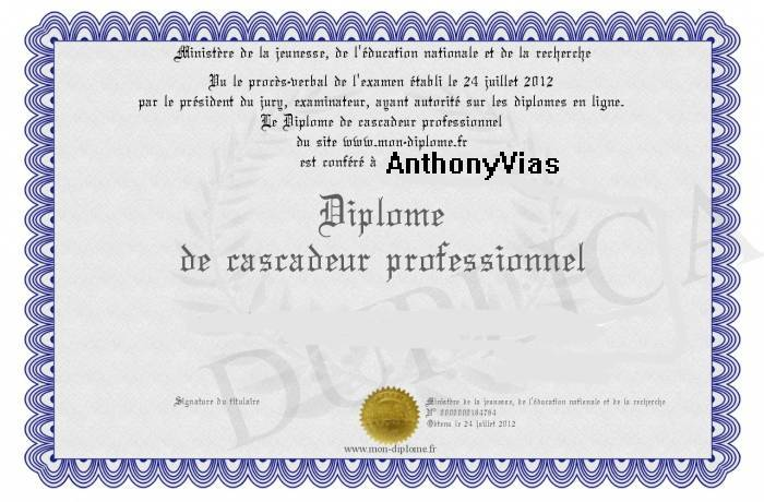 Remise de diplôme à AnthonyVias Tony10