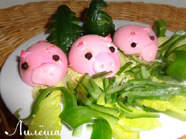 """Яйца фаршированные """"Гламурные свинки"""" 16911"""