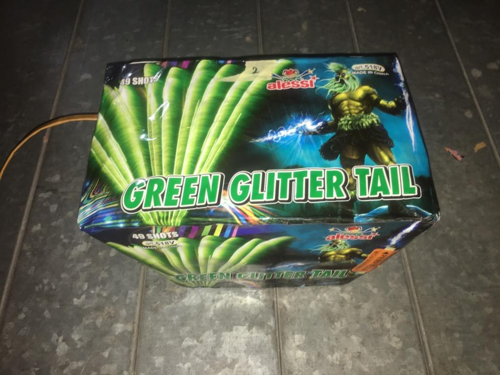 GREEN GLITTER TAIL Img_0815