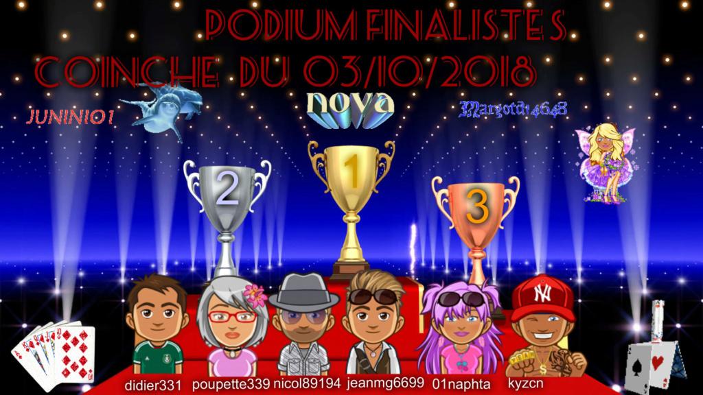 Trophee Coinche du 03/10/2018 Podium17