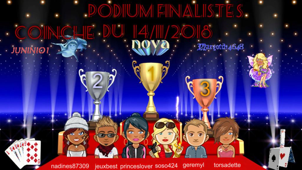 Trophée Coinche du 14/11/18 Podium27