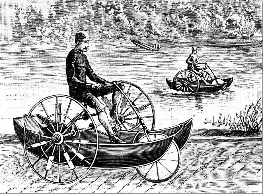 vélos et tandems : le moyen idéal pour aller au bassin avec votre bateau Waterc10