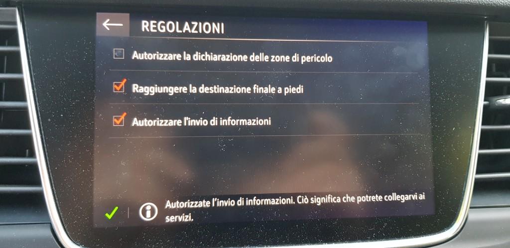 invio dati navigatore Picsar13