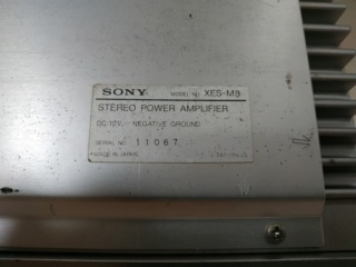 Sony XES-M3 Amplifier (Used) Img_2023