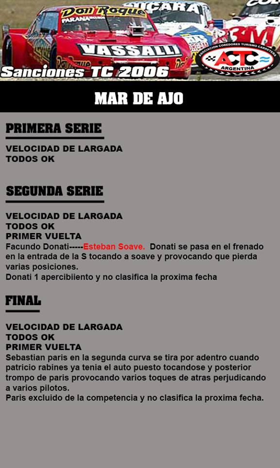 RESULTADO PRIMERA FECHA MAR DE AJO 37823110