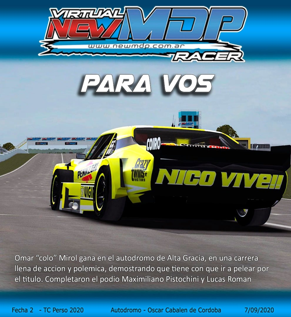 Foro gratis : New MDP Racer - Portal Ganado18
